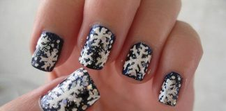 snowflake nail art design ideas