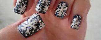snowflake nail art design ideas