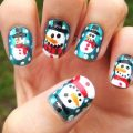 Snowman nail art design ideas