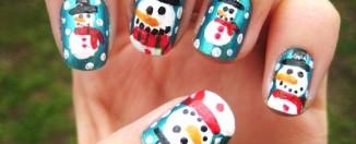 Snowman nail art design ideas