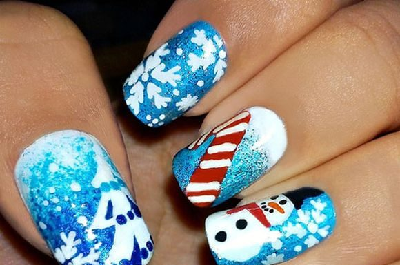 Snowman nail art snowman christmas nail art designs snowman nails frosty snowman nail art video tutorial prinsesfo Images