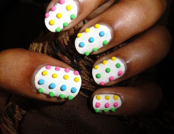 candy-button nail art