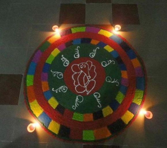 ganpati rangoli designs latest ganesha rangoli designs