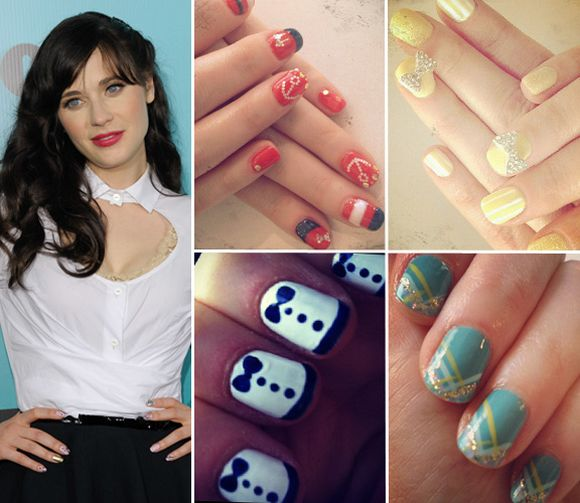 Zooey-deschanel-retro-inspired-celebrity-nail-art-trends