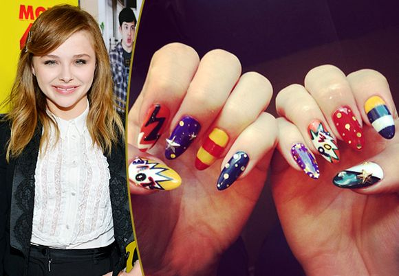 chloe-moretz-celebrity-nail-art-trends