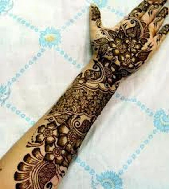 full hand arabic mehndi designs 1