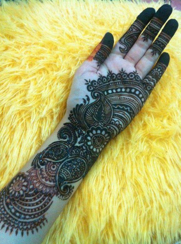 full hand arabic mehndi designs