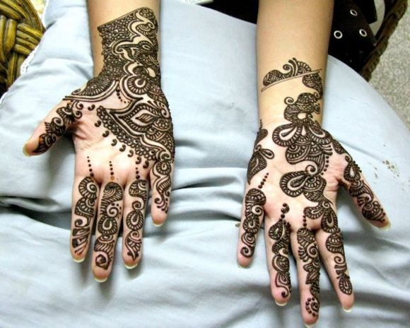 Mehndi Designs For Palm : Simple easy arabic mehndi henna designs patterns