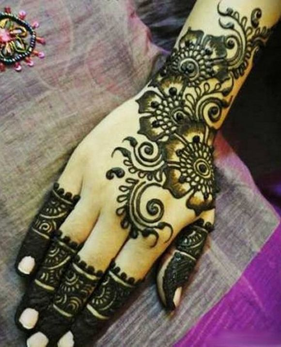 Arabian Mehndi Style : Simple easy arabic mehndi henna designs patterns