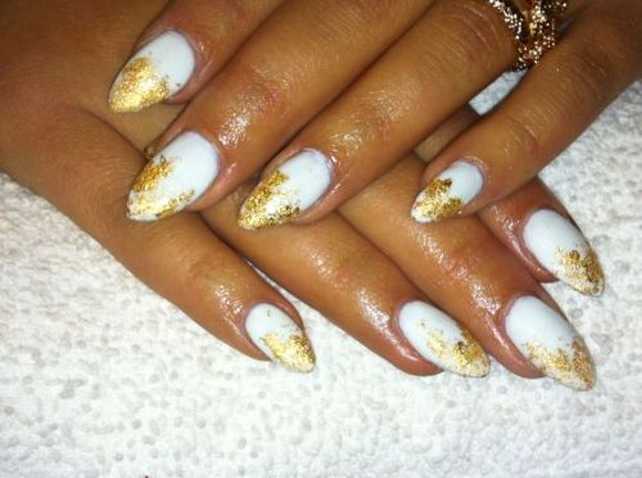 Gold Leafing Nail Art