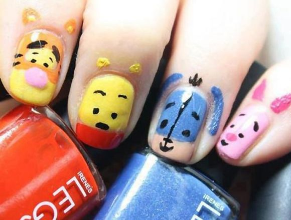Character Design Nail Art : Disney nail art designs ideas