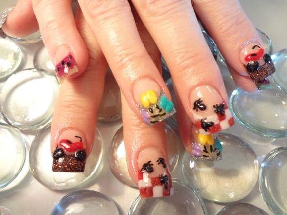 picnic -nail-art