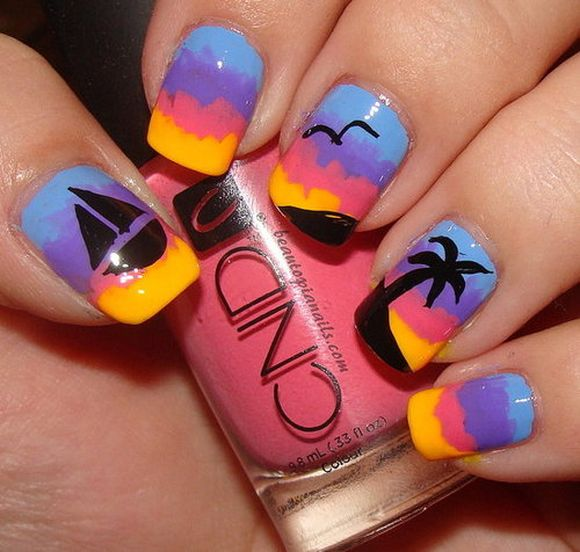 sunset-beach-nail-art