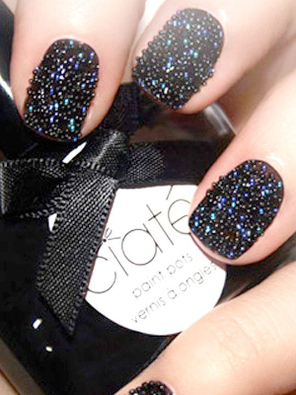 Black Caviar Nails Caviar Nail Art: DIY C...