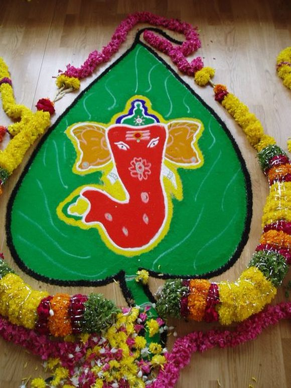 ganpati rangoli designs for diwali 2013 2014