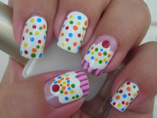 Birthday Cake Nail Art 3