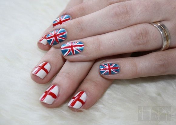 Fifa World Cup 2014 Brazil Nail Art Designs