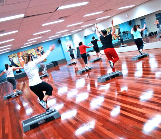 Step Group Fitness Class